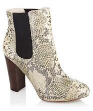 Juicy Couture boots Roxanna in Natural Snak en cuir estampé SZ 4UK RRP £ 239 vente
