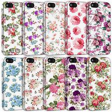 Blanco Floral Vintage Shabby Chic Flor Rosa fundas para iPhone Modelos - 3d