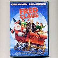 Fred Claus PG family Christmas Santa movie, new DVD Vince Vaughn, Paul Giamatti