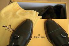 John Lobb William II Monk Strap Moss Green Kendal Calf 9795 Shoes US 10.5 11 E