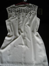 SPOTLIGHT AT WAREHOUSE HAND EMBELLISHED SLEEVELESS DRESS SIZE 18 * BNWT RRP £85
