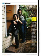 Zooey Deschanel & M. Ward 1-pg clipping 2008 Folky and Zooey