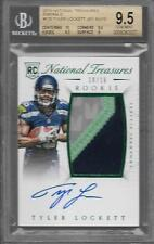 2015 National Treasures Emerald Tyler Lockett 3 Cr Patch Auto Rc # to 16 BGS 9.5