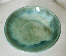 McCarty Pottery Jade Bowl Glazed Edges Artist Signed