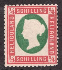 Heligoland - ¼ Schilling - 1870's *model - Embossed Queen Victoria - Superfleas