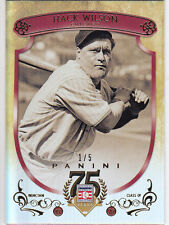 HACK WILSON 1/5  GOLD Panini Hall of Fame 75th Anniversary 2014 #50