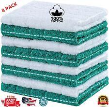 8 Pack Premium Cotton Washcloth Towel Set for Face & Body Wash Cloths Dishcloth