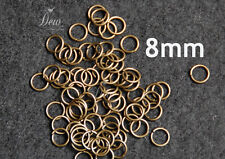 100x Jump rings Platinum gold silver Wholesale different size and colour