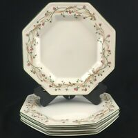 Set of 4 VTG Dinner Plates by Johnson Brothers Eternal Beau Pink Floral England