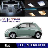 KIT FULL LED INTERNI COMPLETO FIAT 500 + LUCI TARGA LED