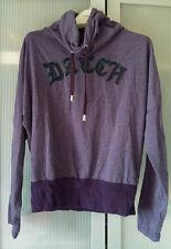 Sweat Datch Col boule violet chiné T S ( xs 34-36), motifs dans le dos, court