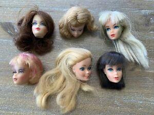 Vintage BARBIE MIDGE  FRANCIE TLC Doll HEAD LOT