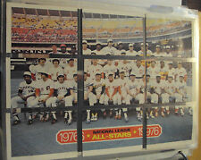 Original 1976 NATIONAL LEAGUE (TOPPS) BASEBALL PATCHES CHECKLIST CARDS