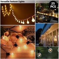 Practical Festive Lights 8 - 40m Outdoor Connectable Garden Festoon Bulb String