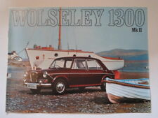 WOLSELEY 1300 MK.II SALOON orig 1969 UK Mkt Sales Brochure - #2586/A