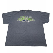 NFL Team Apparel Men T Shirt Seattle Seahawks Logo Sports Football Blue Size 3XL