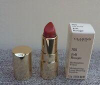 1x CLARINS Joli Rouge Long Wearing Moisturizing Lipstick, #705 Soft Berry, BNIB