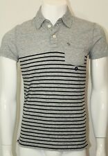 Abercrombie & Fitch Men´s Polo Shirt Muscle Sz Small Color Gray&Black NWT