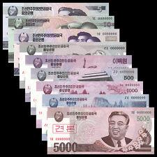 "No. ""0000000"" Full set of King Korea 5-5000 Won Specimen Banknote/ UNC (9 pcs) 1"