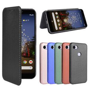 For Google Flip Carbon Fiber Pattern Stand Leather Wallet Magnetic Case Cover