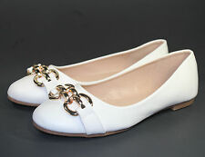 andy-05 Slip On Casual Party Ballet Flat Office Oxford Women Shoes White 7.5.-*