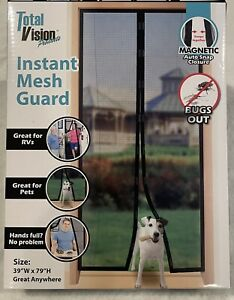 """Total Vision Products Instant Mesh Guard 39""""WX79""""H Instant Screen Door Magnetic"""