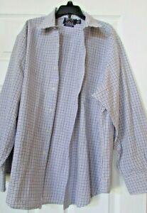American Living mens wrinkle free dress long sleeve shirt 17 1/2  34/35