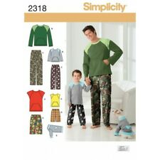 Simplicity Sewing Pattern Boys' & Men's Loungewear & Dog Top  2318