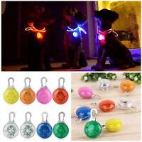 New colors Pet Dog Cat Puppy LED Flashing Collar Safety Night Light Pendant