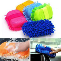 Microfiber Chenille Car Vehicle Care Washing Brush Sponge Pad Cleaning Tool JP