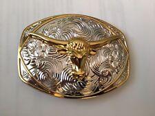 SALE! Bull Head Belt Buckle VINTAGE SILVER GOLD COPPER OVERSIZE MEN WOMEN 6272