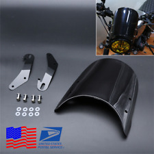 "Motorcycle Windshield Universal for 5"" 7"" Headlight Honda Yamaha Kawasaki Suzuki"