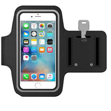 Sportband for iPhone 5 5C 5S SE (Black) Water Resistant Stretchable Arm Slots