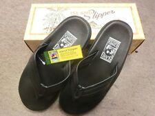 87e79a19358 Island Slipper Leather Sandal size 9 Black  PB202 New