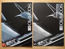 FORD Scorpio range 1986 prestige brochure prospekt  + specs folder - Dutch