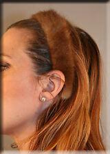 New Pastel Mink Fur Headband Braid - Efurs4less