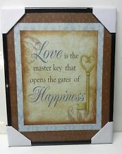 """ Love & Happiness ""  Inspirational Wall Picture, Wall Plaque (NEW)"