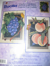 """NIP Bucilla Counted Cross Stitch Kit """"Grapes and Peaches"""""""