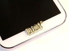 5Pcs 3D Rhinestone Letter Home Button Sticker for Samsung Galaxy s3,s4,s5Note2,3