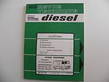 revue technique neuve DIESEL n° 71 D  PEUGEOT J 7 moteur diesel