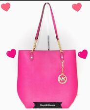 NWT Michael Kors pink Jet Set Chain Leather Shoulder Bag Tote Purse W/Avatar fob