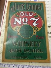 "vintage Jack Daniels – Green Metal / Tin Sign 10.5""x 16"" (#779)made in USA"