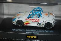 Onyx 1/43 XCL 99016 Renault Spider EUROCUP 98 Francis Maillet Diecast Car