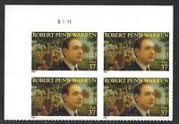 Sc # 3904 ~ Plate Block ~ 37 cent Robert Penn Warren Issue (ch14)