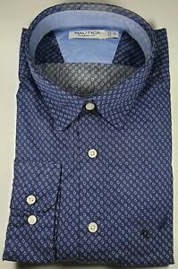 New Authentic Nautica Men's Classic Fit Long Sleeve Dress Casual Shirt CLEARANCE