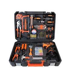 Power Tools Combo Kit 48 pcs Accessories Tool box and 16.8V Cordless Drill Set