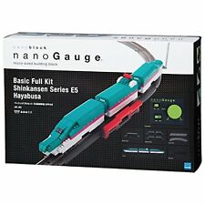 Kawada nanoblock nanoGauge Basic Full Kit Shinkansen E5 Hayabusa Model Train.
