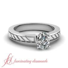 .50 Carat Single Oval Shaped Diamond Platinum Victorian Engagement Ring FLAWLESS