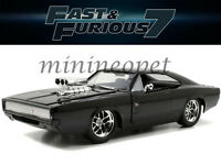 JADA 97059 FAST AND FURIOUS 7 DOM'S 1970 70 DODGE CHARGER R/T 1/24 DIECAST BLACK