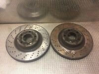 MERCEDES FRONT BRAKE DISC S W221 320 CDI LEFT & RIGHT VENTILATED DRILLED PAIR